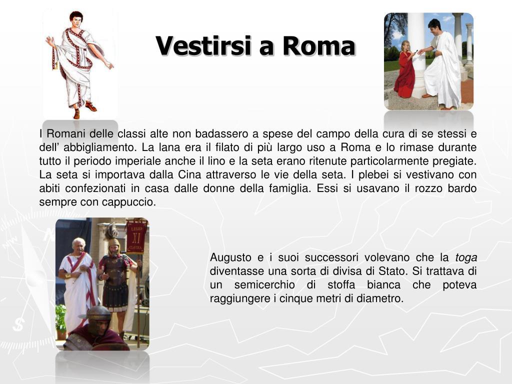 Vestirsi a Roma