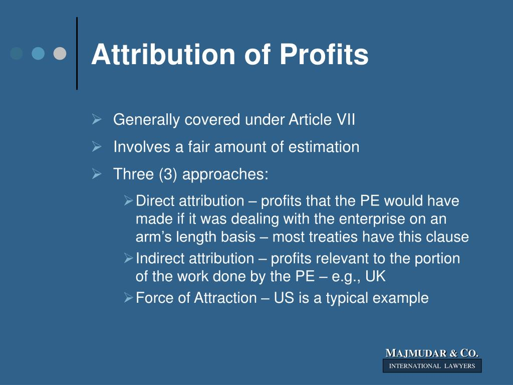 Attribution of Profits