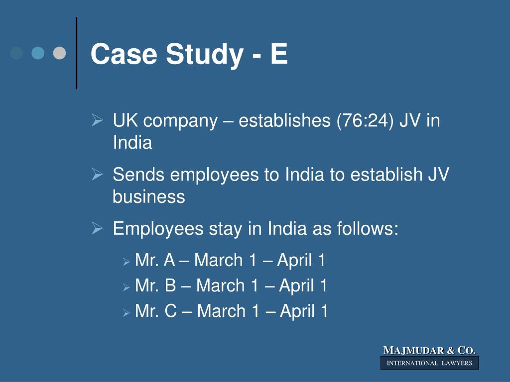 Case Study - E