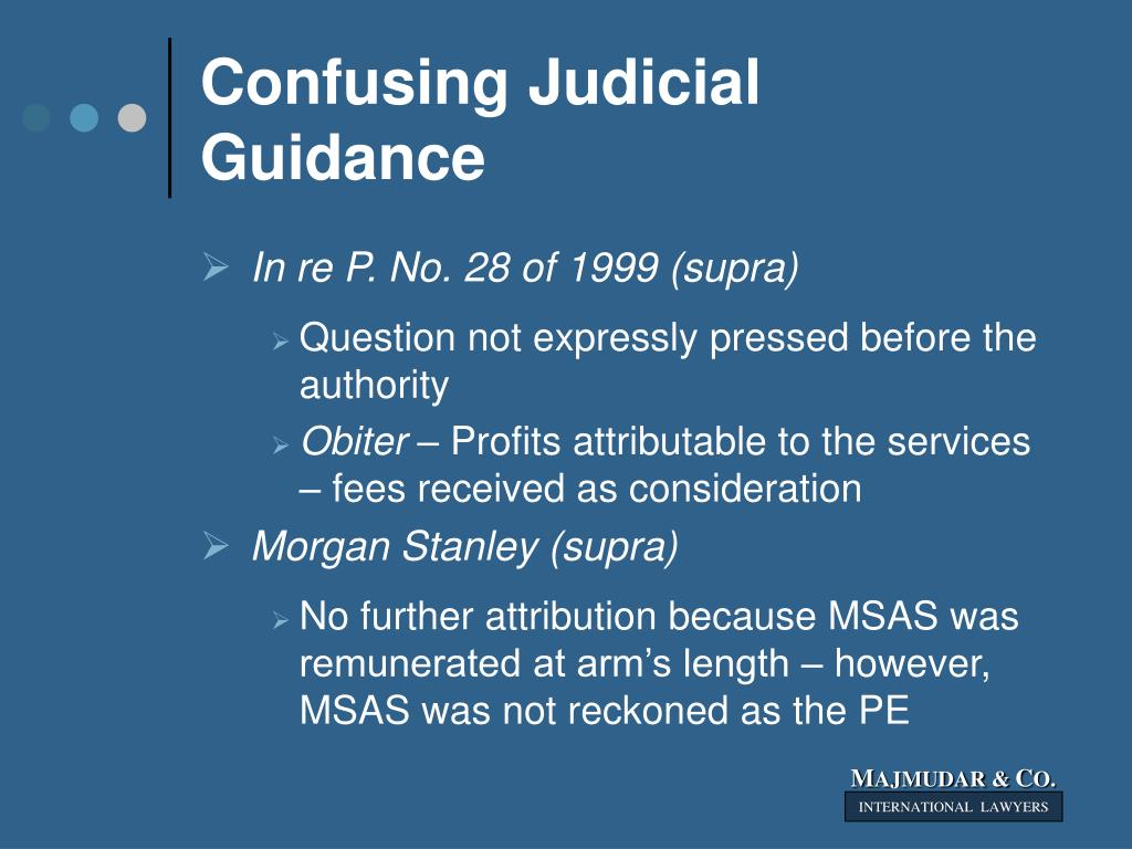 Confusing Judicial Guidance
