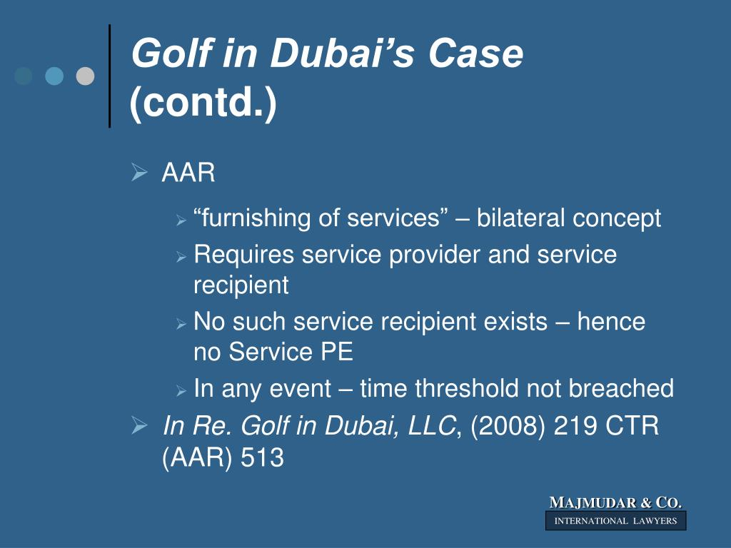 Golf in Dubai's Case
