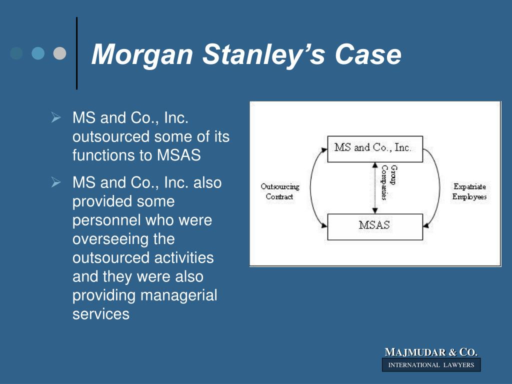 Morgan Stanley's Case