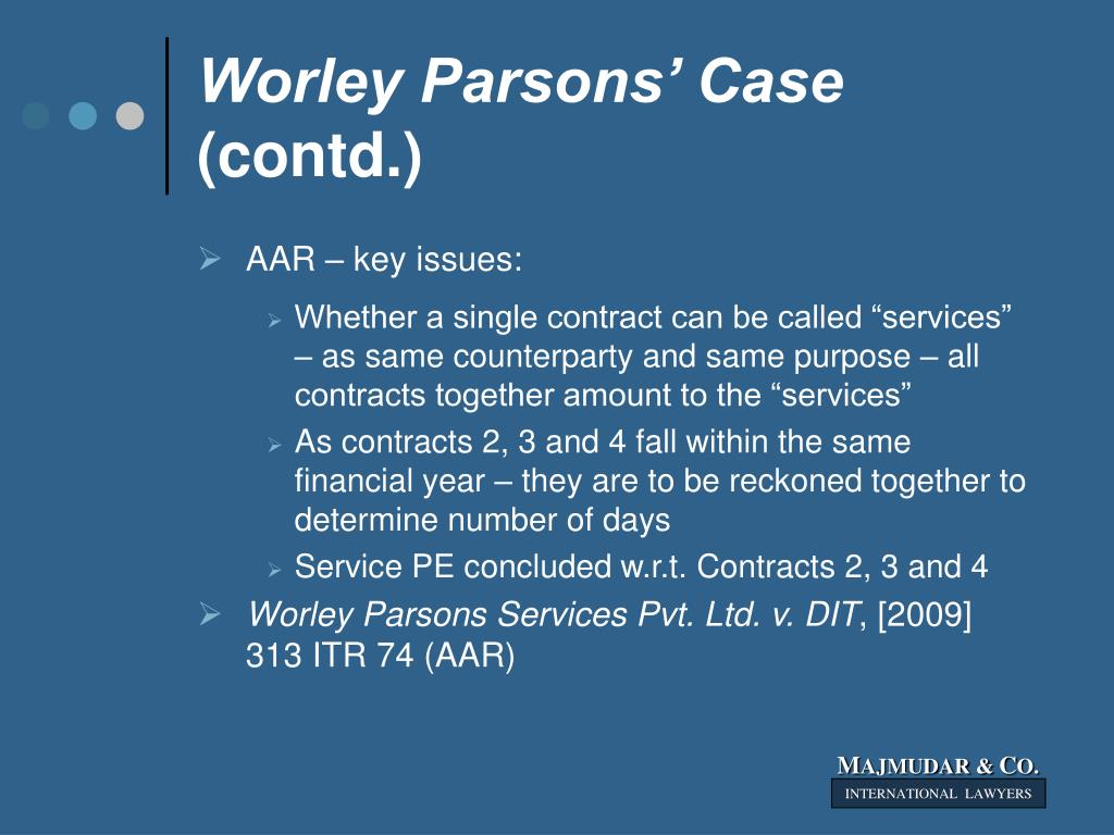 Worley Parsons' Case