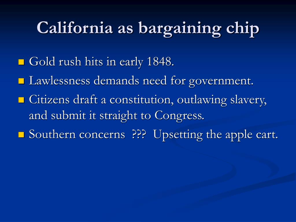 California as bargaining chip