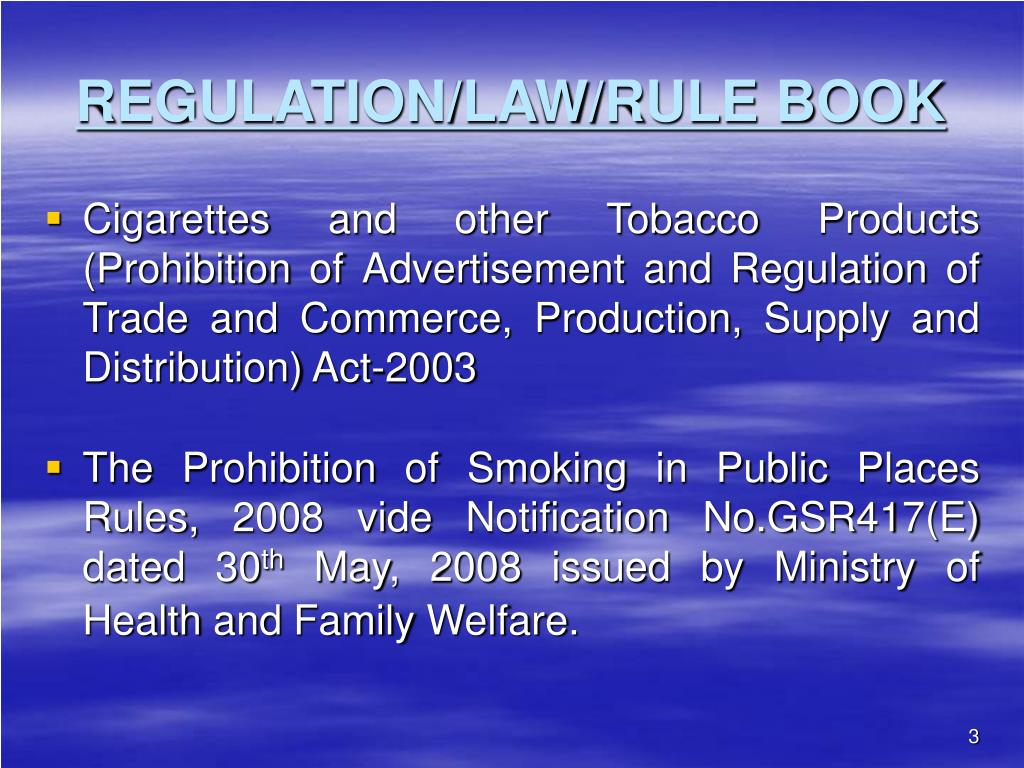 REGULATION/LAW/RULE BOOK
