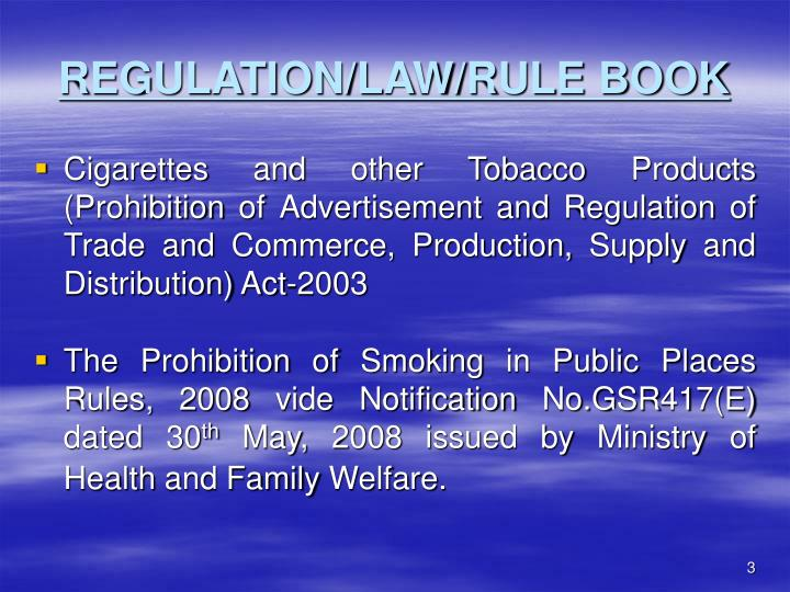 Regulation law rule book