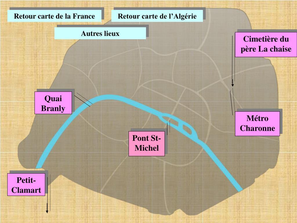 Retour carte de la France