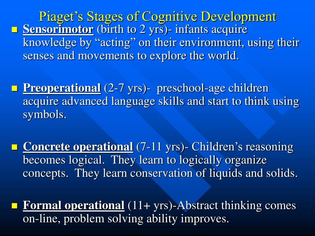 piaget's stages of development 0 comparing and contrasting jean piaget this paper delves into the contribution of these two theorists in their study of various development stages.