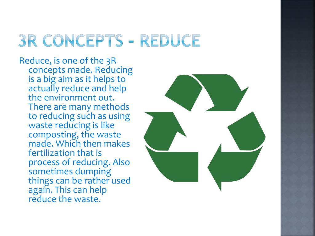3R concepts - Reduce