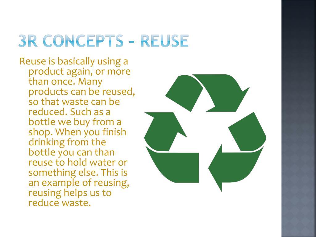3R concepts - Reuse