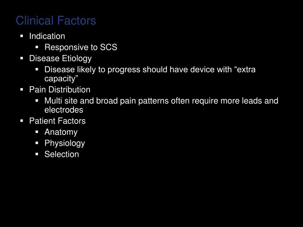 Clinical Factors