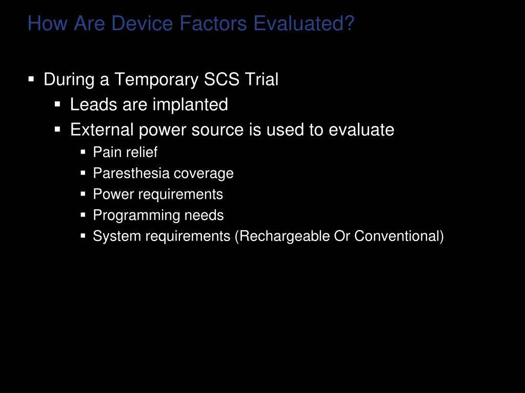 How Are Device Factors Evaluated?