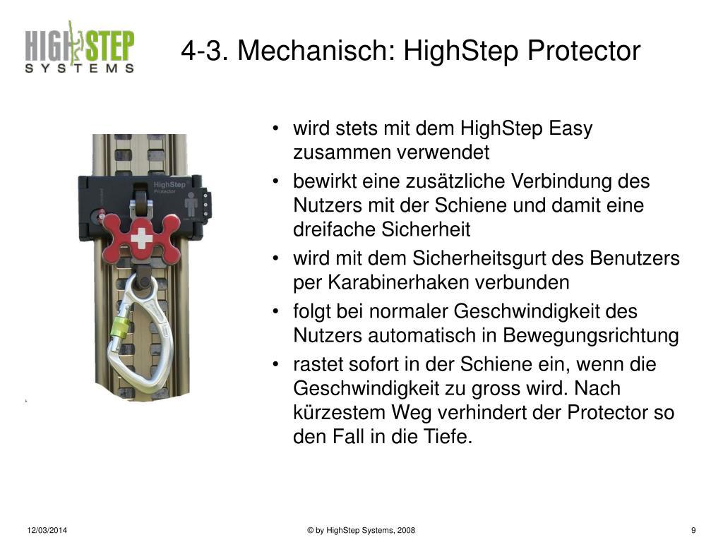 4-3. Mechanisch: HighStep Protector