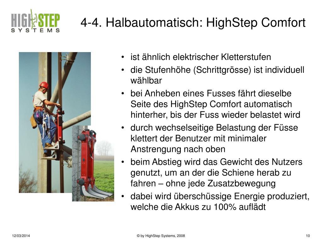 4-4. Halbautomatisch: HighStep Comfort