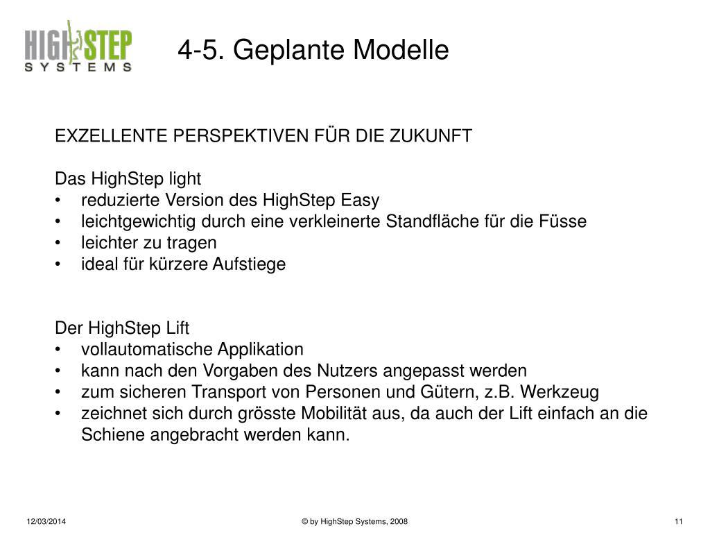 4-5. Geplante Modelle