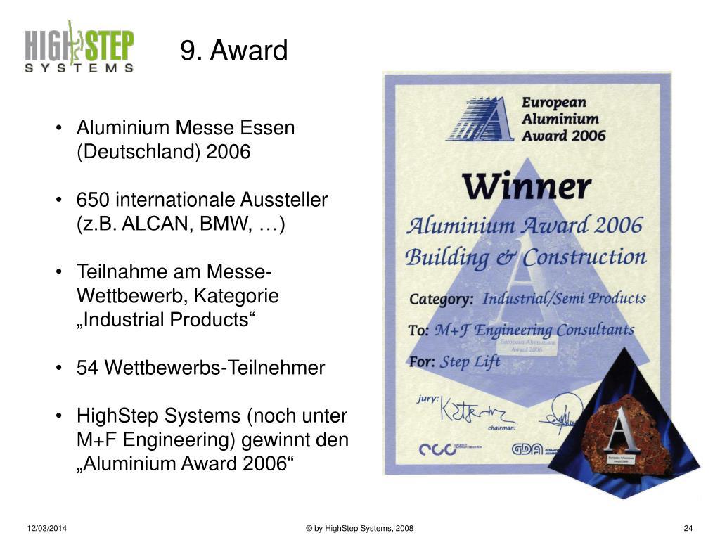 9. Award
