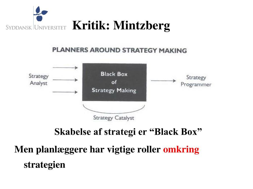 Kritik: Mintzberg