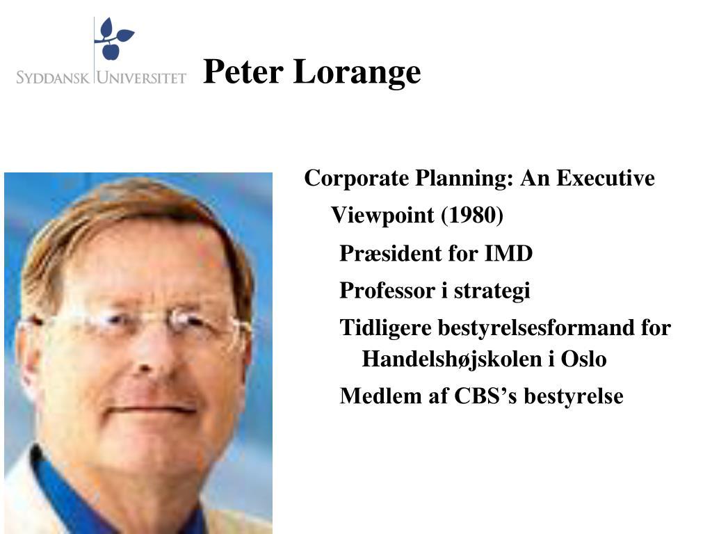 Peter Lorange