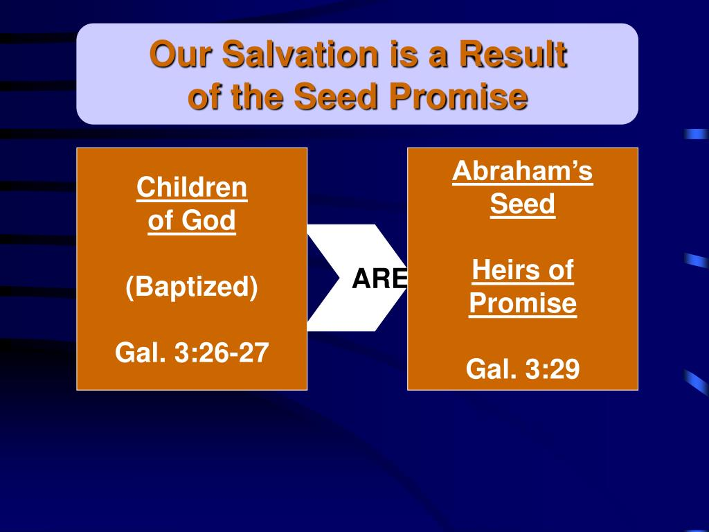 Our Salvation is a Result