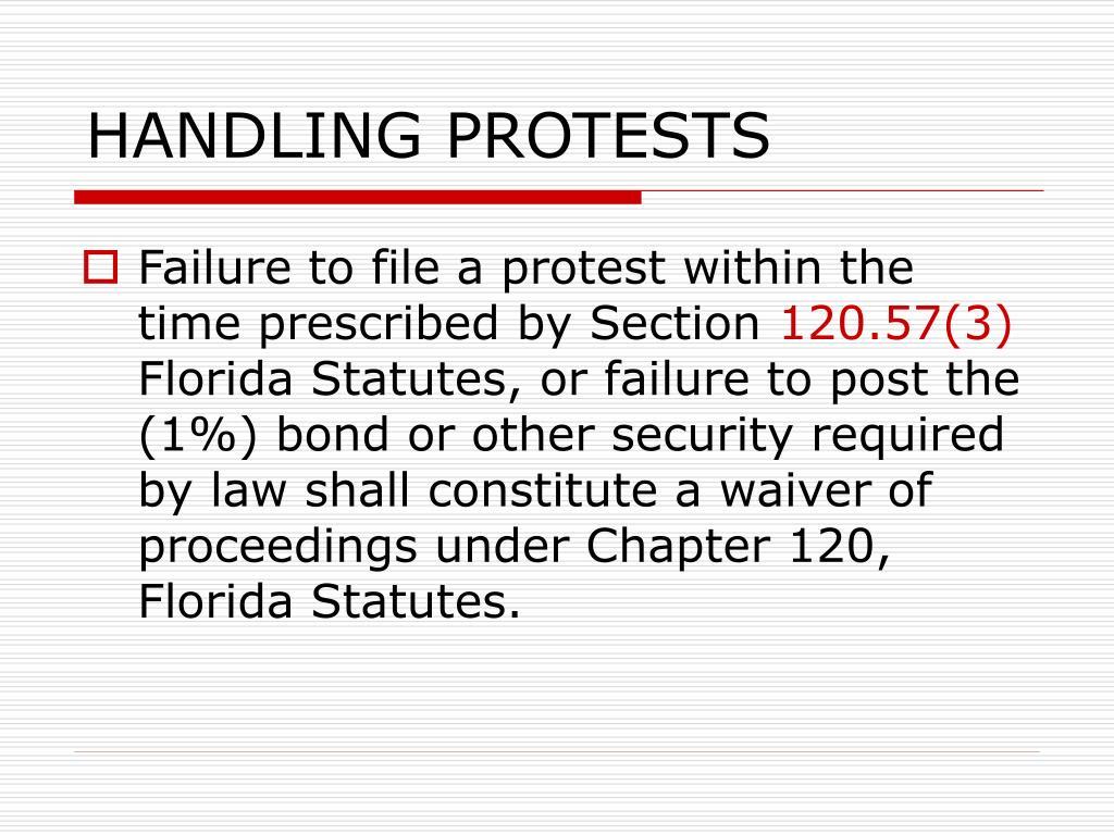 HANDLING PROTESTS