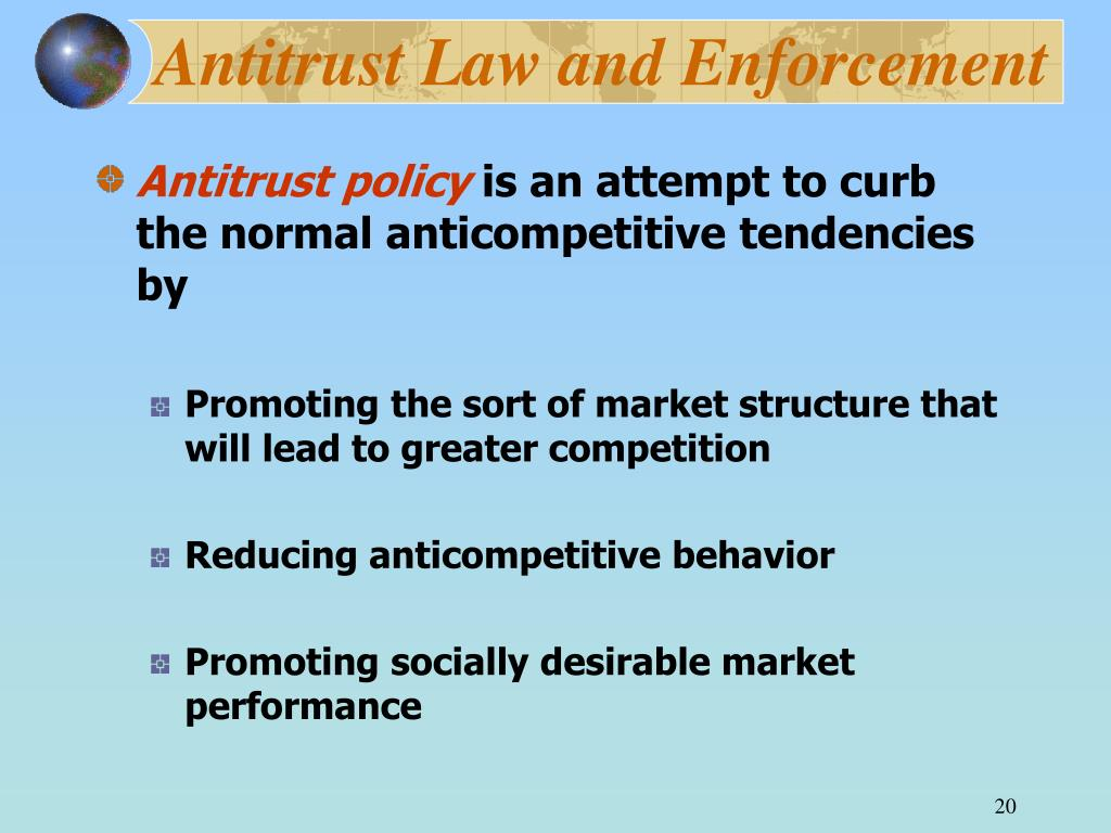 Antitrust Law and Enforcement