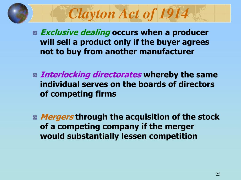 Clayton Act of 1914