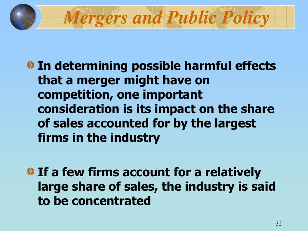 Mergers and Public Policy