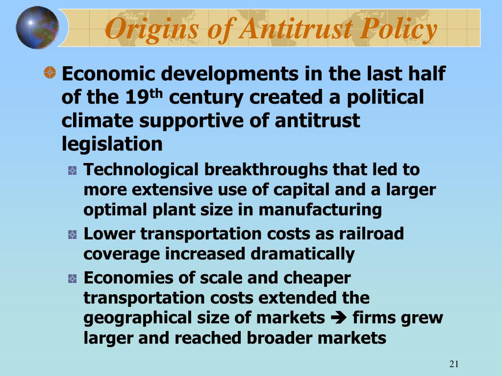 Origins of Antitrust Policy