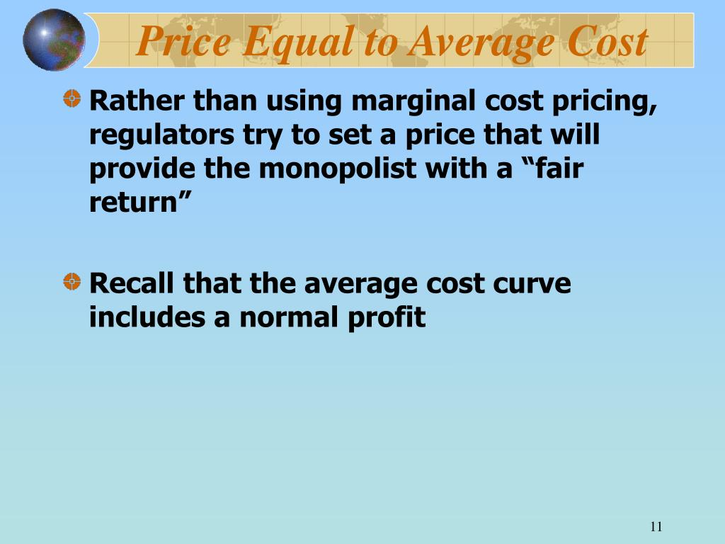 Price Equal to Average Cost