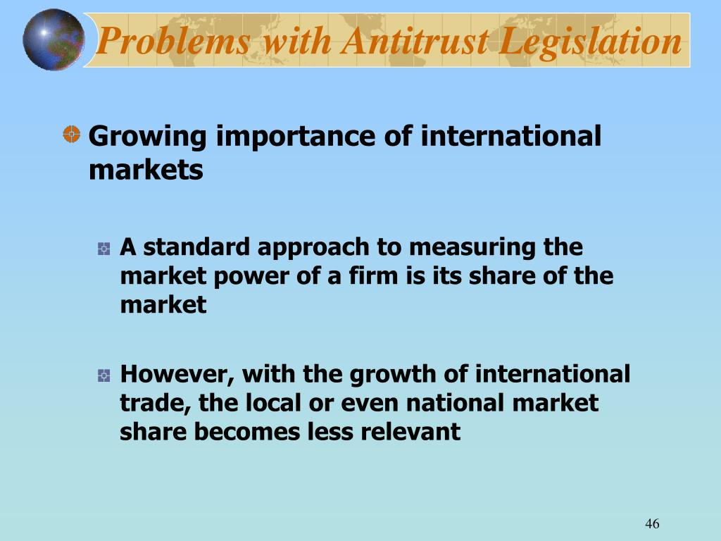 Problems with Antitrust Legislation