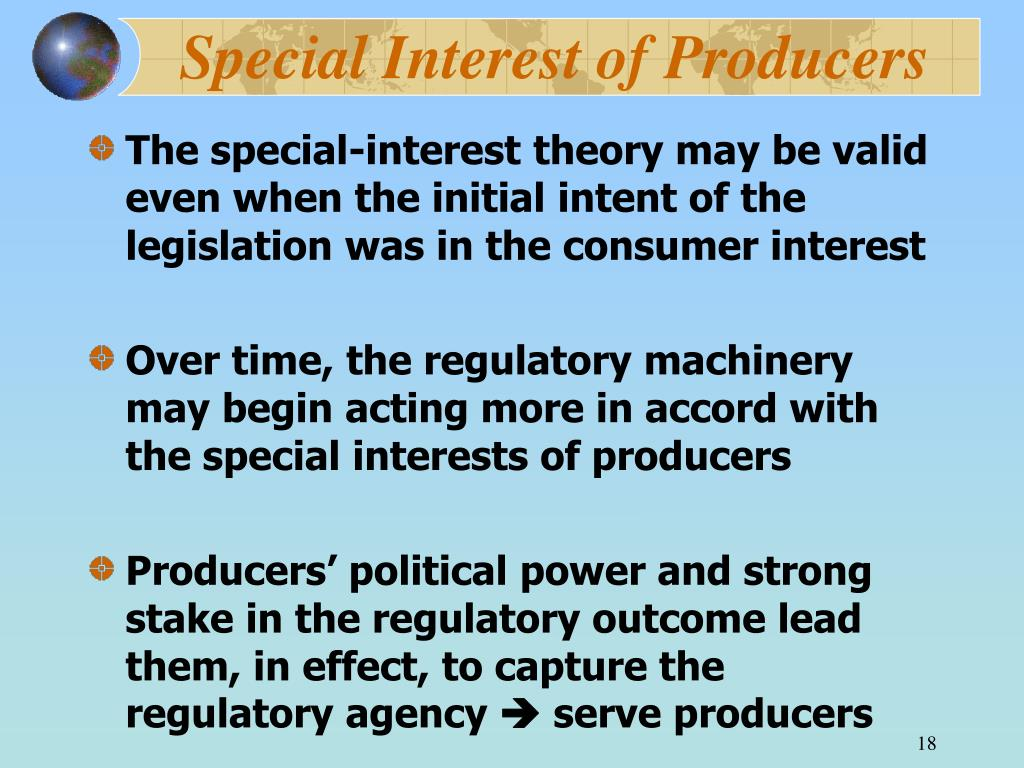Special Interest of Producers