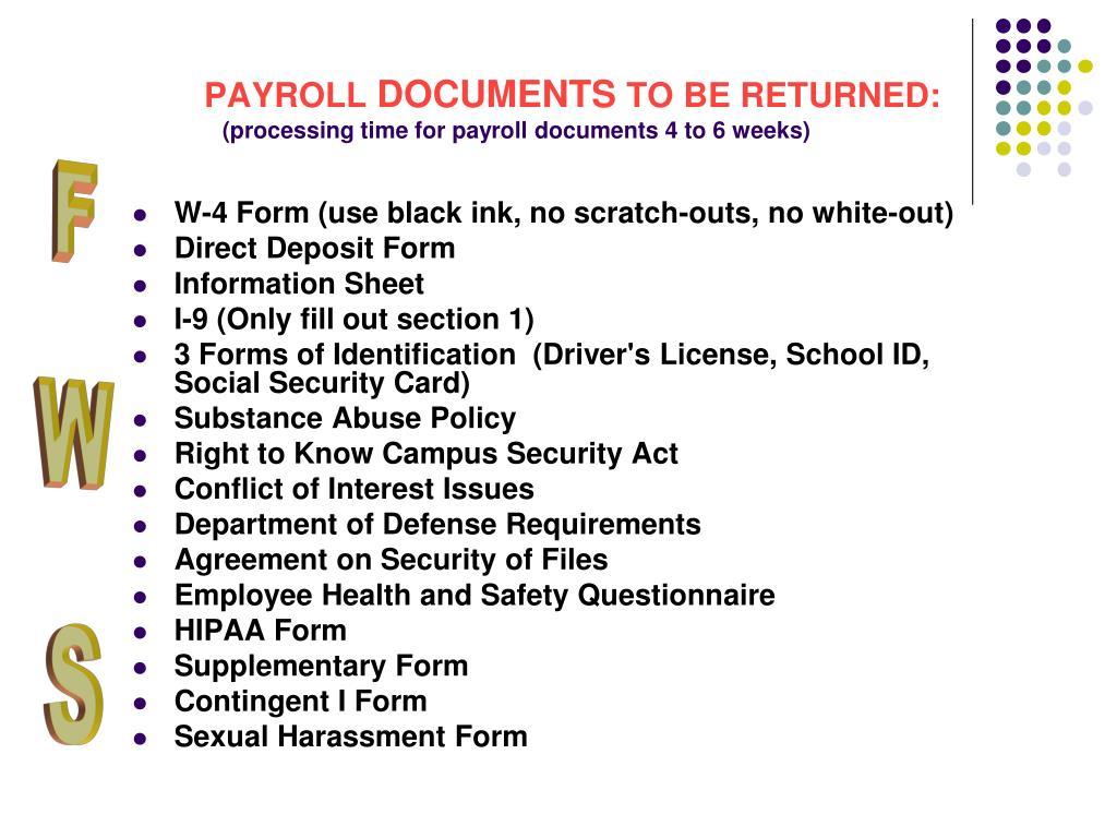 Payroll Time Entry