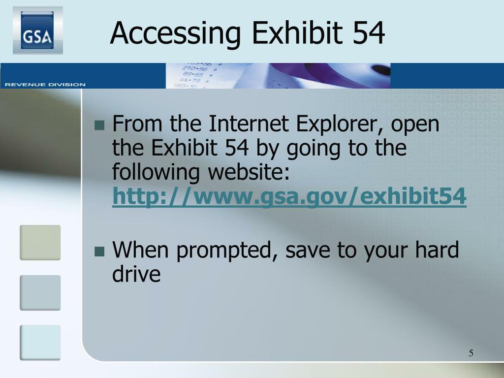 Accessing Exhibit 54