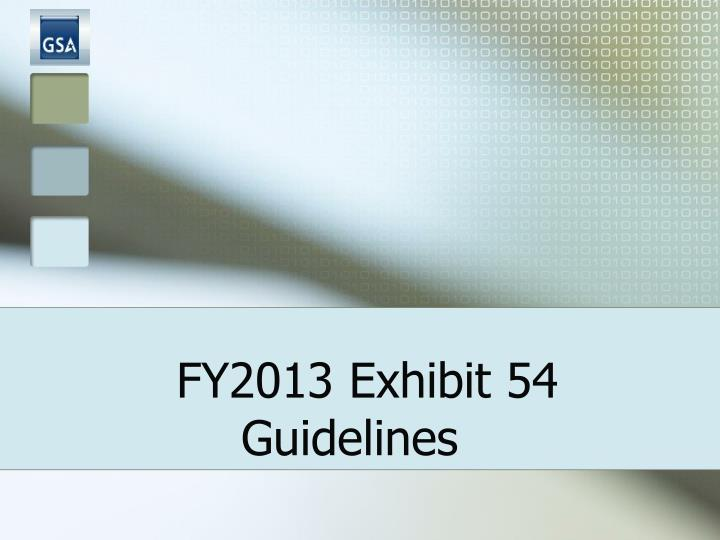 Fy2013 exhibit 54 guidelines l.jpg