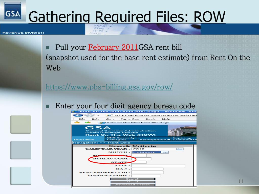 Gathering Required Files: ROW
