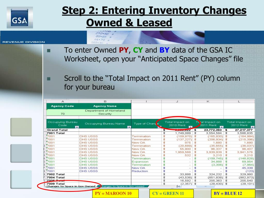 Step 2: Entering Inventory Changes