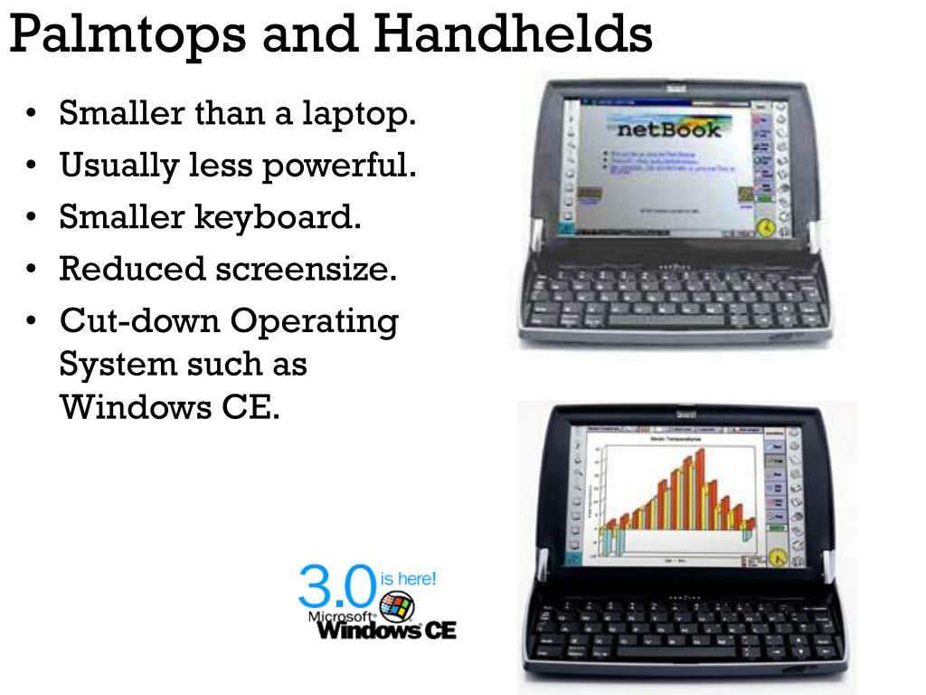 Palmtops and Handhelds