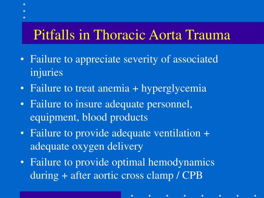 Pitfalls in Thoracic Aorta Trauma