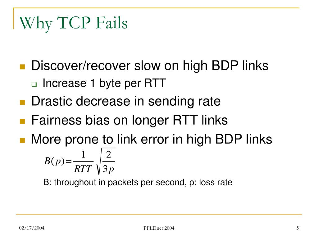 Why TCP Fails