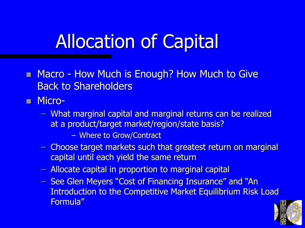 Allocation of Capital