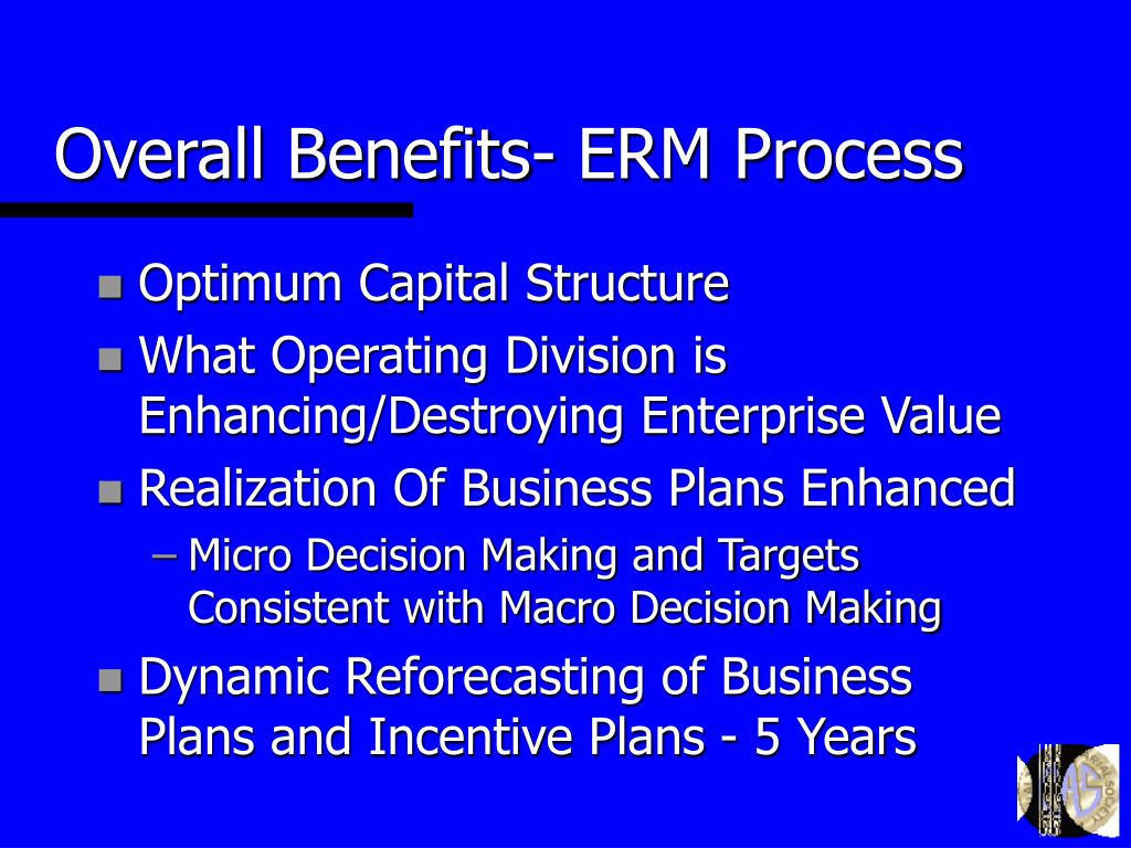 Overall Benefits- ERM Process