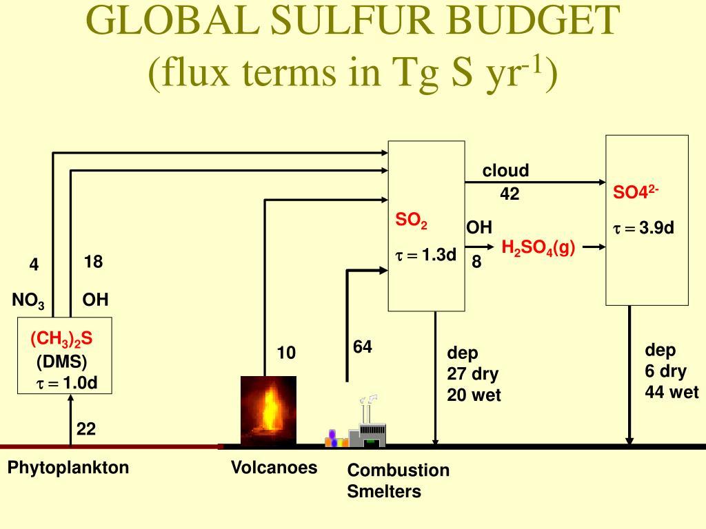 GLOBAL SULFUR BUDGET