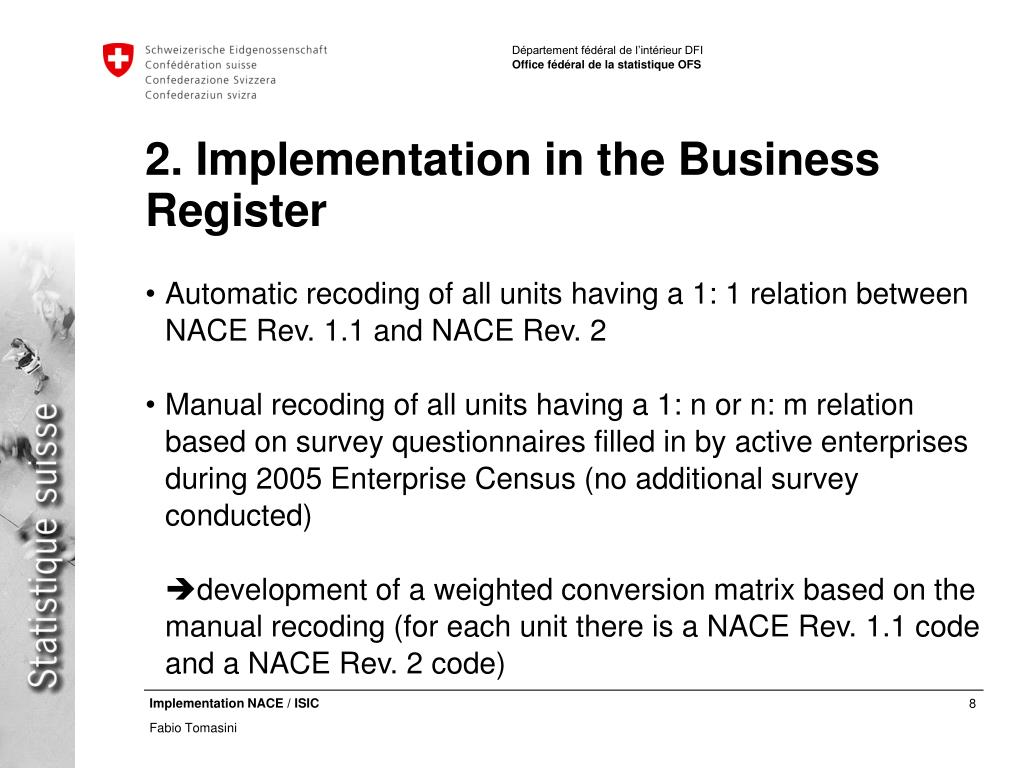 2. Implementation in the Business Register
