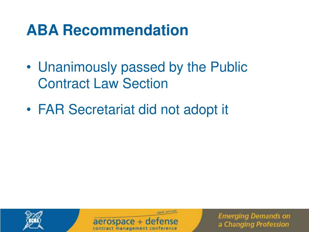 ABA Recommendation
