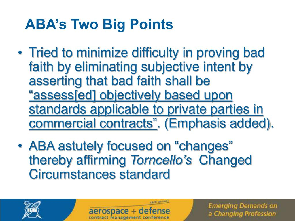 ABA's Two Big Points