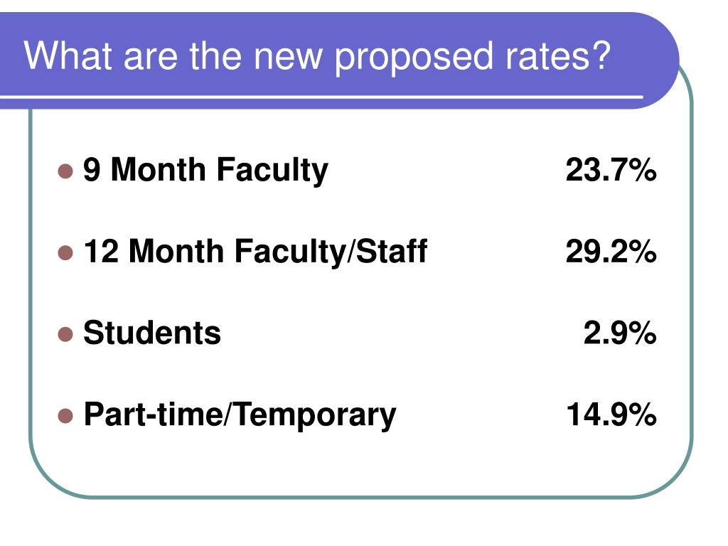 What are the new proposed rates?