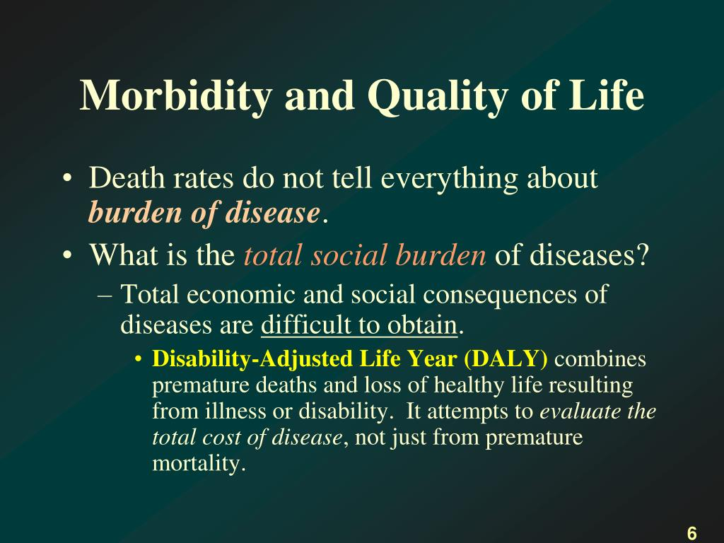 Morbidity and Quality of Life