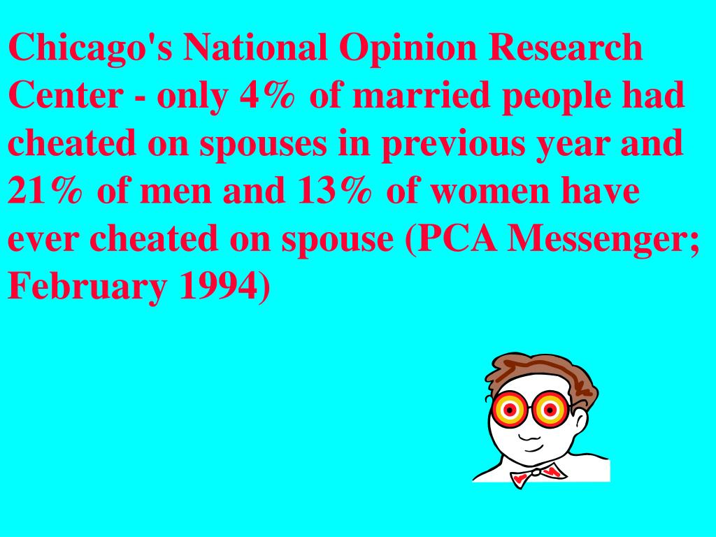 Chicago's National Opinion Research Center - only 4%