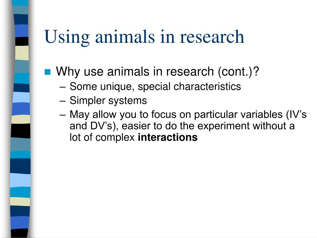 using animals for research Using animals in research and to test the safety of products has been a topic of heated debate for decades according to data collected by f barbara orlans for her book, in the name of science: issues in responsible animal experimentation, sixty percent of all animals used in testing are used.