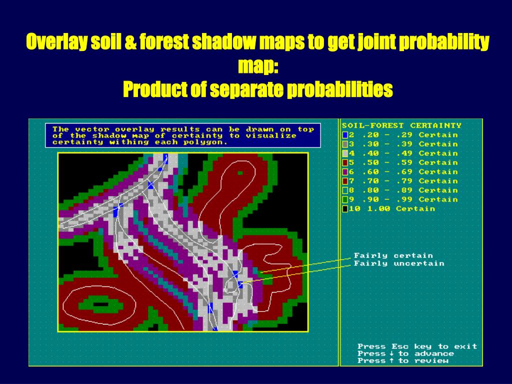 Overlay soil & forest shadow maps to get joint probability map: